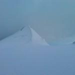 Lente appannata, l'inizio della cresta visto dal colle del Lys