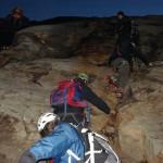 passaggio difficile: la roccia coi ramponi
