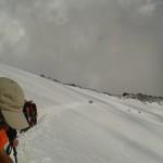 prove di ghiacciaio tra il Mantova e lo Gnifetti